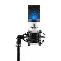 Auna MIC-900-WH LED, biely, USB, kondenzátorový mikrofón, kardioidný, štúdiový, LED