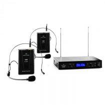 Malone VHF-400 Duo 2, 2-kanálová sada VHF bezdrôtových mikrofónov, 1 x prijímač, 2 x headset mikrofó...