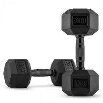 Capital Sports Hexbell Dumbbell krátkoručné činky, pár, 2 x 10 kg