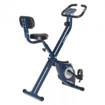 Klarfit Azura CF X-Bike, bicykel na domáci tréning, do 100 kg, merač tepu, sklápací, 3 kg, modrý