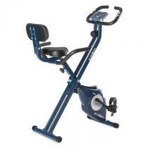 Klarfit Azura Pro X-Bike, bicykel na domáci tréning, do 100 kg, merač tepu, sklápací, 3 kg, modrý