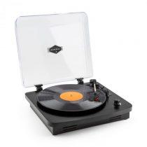 Auna TT370 retro gramofón, vstavané reproduktory, USB MP3 AUX, čierna