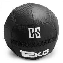 Capital Sports Bravor Wall Ball medicinbal PVC dvojité švy 12kg čierna farba