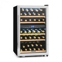 Klarstein Vinamour 40D, 135 l, chladiaca vinotéka, 2 zóny, 41 fliaš, predná strana z nehrdzavejúcej ...