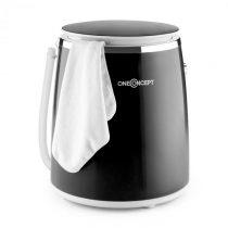 OneConcept Ecowash-Pico, čierna, mini práčka, funkcia žmýkania, 3,5 kg, 380 W
