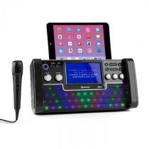 Auna DiscoFever Bluetooth karaoke zariadenie LED 7'' TFT displej CD USB