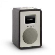 """Numan Mini One, dizajnové digitálne rádio, 2,4"""" TFT farebný displej, bluetooth, DAB+, čiern..."""