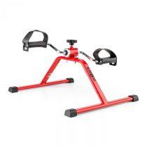 Klarfit Continus Mini Bike, pedálový prístroj na cvičenie, manuálny odpor, červená farba