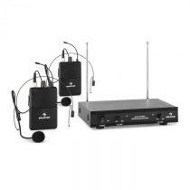 Auna VHF-2-HS 2-kanálová VHF mikrofónová sada 2x headset 50m