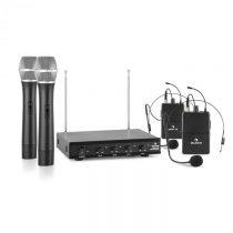 Auna VHF-4-H-HS, 4-kanálová VHF mikrofónová sada 2 x headset 2 x ručný mikrofón 50m