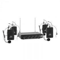 Auna VHF-4-HS 4-kanálová VHF mikrofónová sada 4x headset 50m