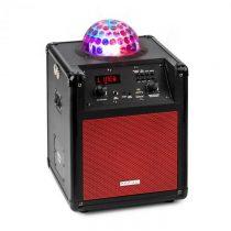 Ibiza Kube 60, červený, prenosný bluetooth reproduktor, box, USB, SD, AUX, FM, batéria