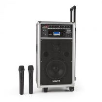 Vonyx ST-100 MK2, prenosný PA audio systém, bluetooth, CD, USB, SD, MP3, akumulátor, UKV