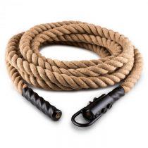 Capital Sports Power Rope H6 s háčikmi 6m 3,8cm konope kyvadlové lano háčiky
