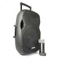 Vonyx AP1500PAmobilné PA zariadenie 38 cm (15'') bluetoothUSB SD MP3 VHFnabíjacia ...