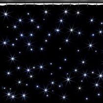 Beamz SparkleWall, LED záves, 96 RGBW LED diód – chladná biela, 3 x 2 m, vrátane diaľkového ovládača