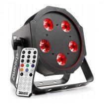 Beamz BFP120 FlatPAR, 5 x 8 W RGBW LED diódy, 4-v-1 LED lampy, DMX, IR diaľkový ovládač