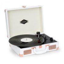 Auna Nostalgy by auna Peggy Sue retro gramofón platne USB AUX biela/ružovo-zlatá