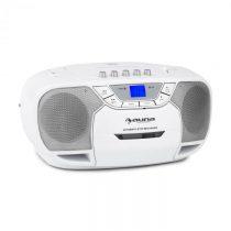 Auna BeeBerry Boom Box, biely, boombox, prenosné rádio, CD/MP3 prehrávač, kazetový prehrávač