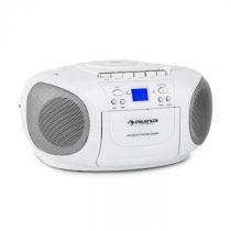 Auna BoomBerry Boom Box, biely, boombox, prenosné rádio, CD/MP3 prehrávač, kazetový prehrávač
