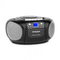 Auna BoomBoy Boom Box, čierny, boombox, prenosné rádio, CD/MP3 prehrávač, kazetový prehrávač