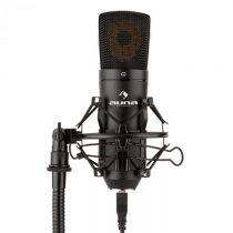 Auna MIC-920B, USB kondenzátorový mikrofón, štúdiový, veľkomembránový, čierna farba