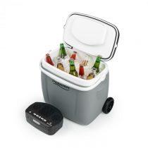Auna Picknicker Trolley Music Cooler, chladiaci box, kufríkový, 36 l, BT reproduktor, šedý