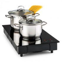 Klarstein VariCook Domino, indukčný varič, dvojplatnička, varná doska, sklokeramika, 3100 W