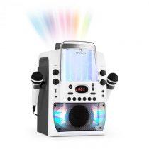 Auna Kara Liquida BT karaoke zariadenie, svetelná show, vodná fontána, bluetooth, biela/sivá farba