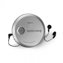 OneConcept CDC 100MP3, discman, prenosný CD prehrávač, antishock, ESP, microUSB, strieborný