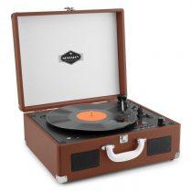 Auna Peggy Sue CD prenosný CD retro gramofón CD USB SD tmavohnedá