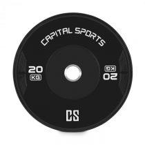 Capital Sports Elongate 20 Bumper Plate, kotúč, závažie, guma, 20 kg