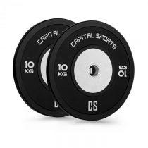 Capital Sports Inval Hi-Grade Competition Plates, činkové kotúče, 50mm hliníkové jadro, guma, 2x10kg