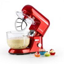 Klarstein Bella Rossa 2G, kuchynský robot, 1200 W, 2,5/5,2 l, sklená misa, červená farba
