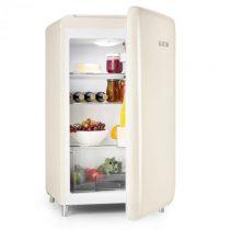 Klarstein PopArt-Bar krémová chladnička, 136l retro dizajn, 3 poschodia, priečinok na zeleninu, A+