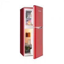 Klarstein Monroe L, kombinovaná chladnička, mraznička, 70/38l, A+, retro dizajn, červená