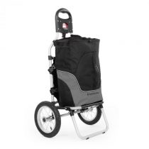 DURAMAXX Carry Grey, cyklovozík, vozík za bicykel, ručný vozík, max. nosnosť 20 kg, čierno-sivý