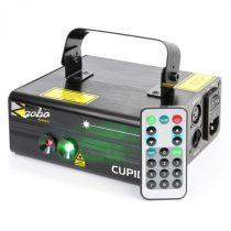 Beamz Cupid, dvojitý laser, 6 DMX kanálov, 18 W RG, 12 motívov, IR diaľkový ovládač