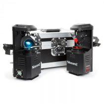 Beamz 3-in1-PocketScan LED Set pozostávajúci z 2 scannerov & flightcase kufríka12W-Cree-LED ...