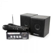 Fenton AV380BT karaoke set so zosilňovačom, USB, SD, BT, 2 x reproduktor, 2 x mikrofón