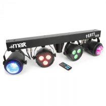 MAX LED-Partybar 2xPAR-RGBW-LEDs + RGBW-Jellball vrátane stojana a IR diaľkového ovládania