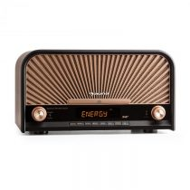Auna Glastonbury retro stereo zariadenie DAB+ FM bluetooth CD MP3 prehrávač