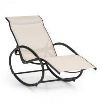 Blumfeldt Santorini, hojdacie kreslo, ležadlo, hliník, polyester, béžové