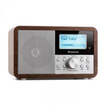 Auna Worldwide Mini, internetové rádio, WLAN, sieťový prehrávač, USB, MP3, AUX, FM tuner, orech