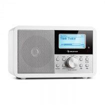 Auna Worldwide Mini, internetové rádio, WLAN, sieťový prehrávač, USB, MP3, AUX, FM tuner, biela farb...