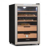 Klarstein El Presidente 65, humidor, 70 W, dotykový, bukové drevo, 65 l, LED, čierny/strieborný