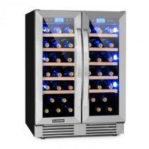 Klarstein Vinovilla Duo 42 2-zónová chladnička na víno, 126l, 42 fliaš, 3 farby, sklená