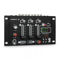 Resident DJ DJ-21 DJ-mixér mixážny pult, USB, čierna farba