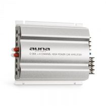 Auna C300.4, 4-kanálový zosilňovač, koncový zosilňovač do auta, 1200W PMPO, 300W RMS, strieborný