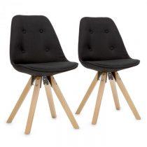 OneConcept Iseo stolička, 2-dielna sada, polstrovaná PP-konštrukcia sedacej časti, brezové drevo, či...